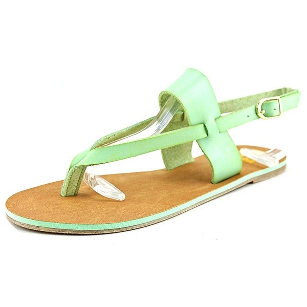 Cape Robbin Alma-FB-10 Women  Open Toe Synthetic Green Thong Sandal