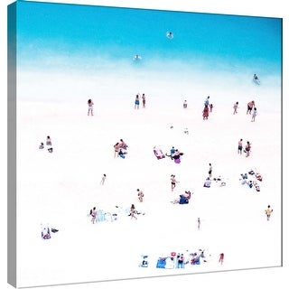 """PTM Images 9-101131  PTM Canvas Collection 12"""" x 12"""" - """"Whitewashed Beach B"""" Giclee Beaches Art Print on Canvas"""