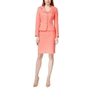 Tahari ASL Womens Skirt Suit Jacquard 2PC