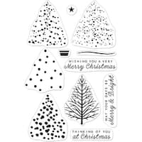"Hero Arts Clear Stamps 4""X6""-Color Layering Christmas Tree"