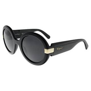 39e91a1e63 Quick View. Was  99.99.  15.00 OFF. Sale  84.99. Salvatore Ferragamo SF778S 001  Black Round Sunglasses ...