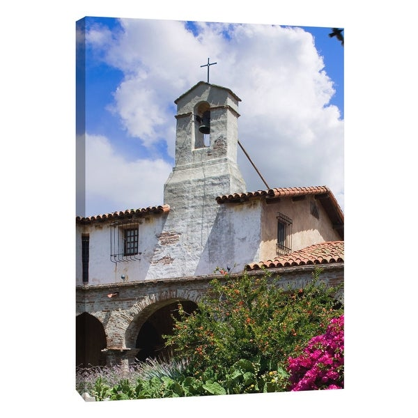"PTM Images 9-105378 PTM Canvas Collection 10"" x 8"" - ""Ca Missions 4"" Giclee Buildings and Landmarks Art Print on Canvas"