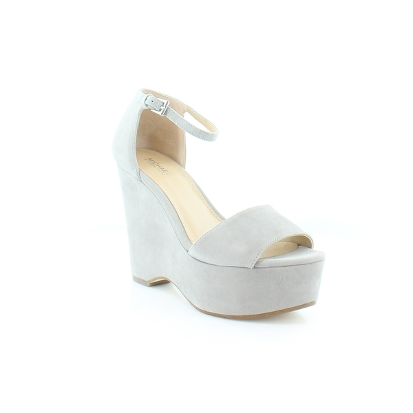 Michael Kors Claire Wedge Women's Heels Pearl Grey - 7.5