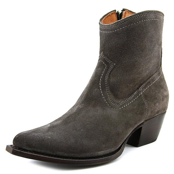 Frye Sacha Short Boot Women Round Toe Suede Gray Ankle Boot
