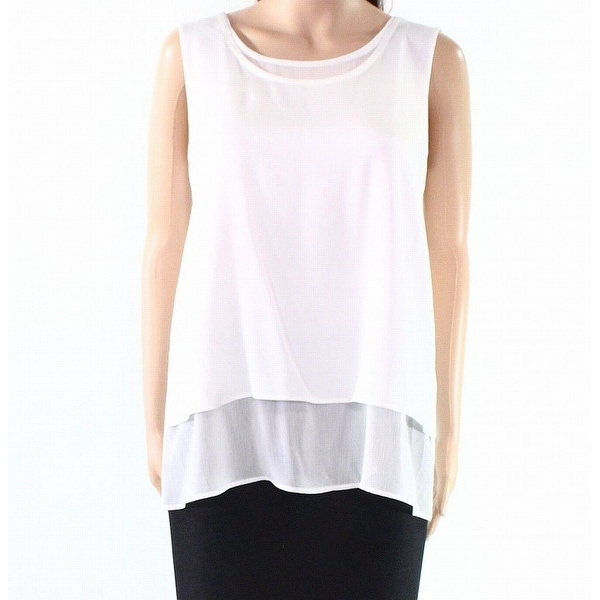 411626db0ef2c8 Shop Tommy Hilfiger White Womens Size XL Layered Chiffon Textured Blouse -  Free Shipping On Orders Over $45 - Overstock.com - 27081509