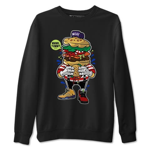 I Love Burger Sweatshirt Jordan 5 What The Sneaker Matching Outfit