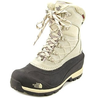 The North Face Chilkat 400 Women Round Toe Leather Ivory Snow Boot
