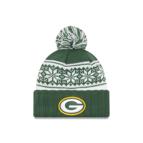 Green Bay Packers Snowy Pom Women's Beanie
