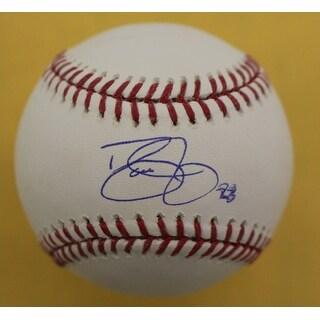 Dave Justice Autographed Atlanta Braves OML Baseball Steiner