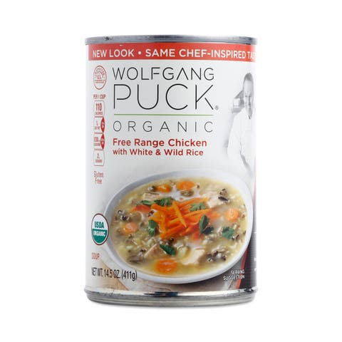 Wolfgang Puck Organic Soup - Chicken with White and Wild Rice - Case of 12 - 14.5 oz.