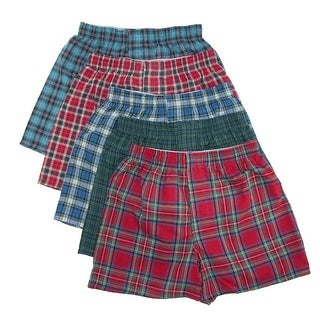 Hanes Boys' Tartan Boxer Underwear (Pack of 5) - Assorted