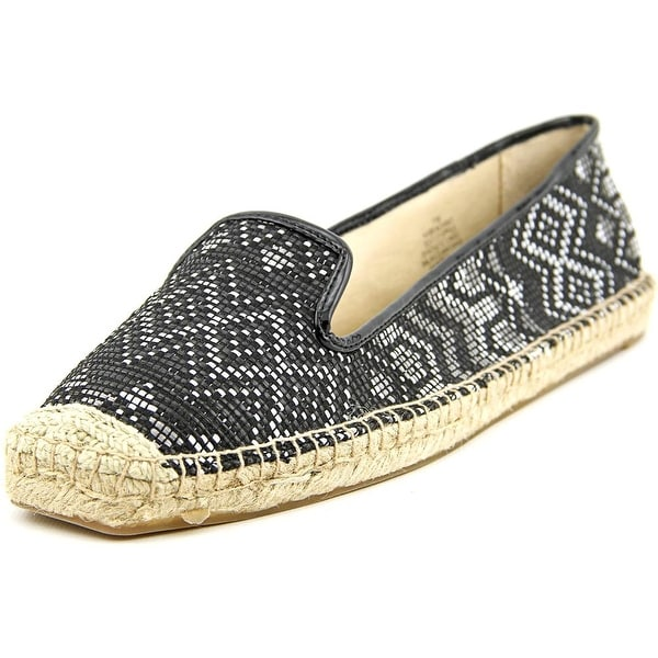 Nine West Beachinit Women Round Toe Canvas Black Espadrille
