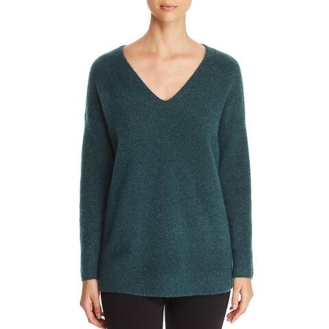 Eileen Fisher Womens Petites Tunic Sweater Cashmere Long Sleeves