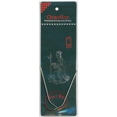 "Red Circular Knitting Needles 12""-Size 6/4Mm"