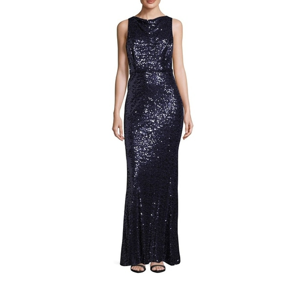 275bd2d5bcb35 Shop Badgley Mischka Sequined Blouson Evening Gown Dress Navy - 10 - Free  Shipping Today - Overstock.com - 21906170
