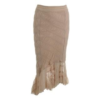 Free People Womens Boho Hi-Low Maxi Skirt
