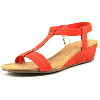 Alfani Voyage Women Open Toe Synthetic Orange Wedge Sandal