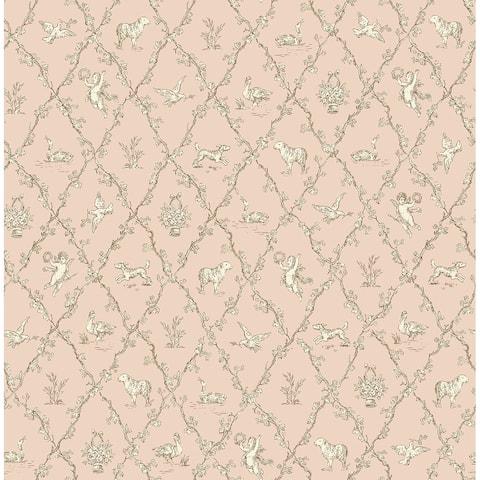 Seabrook Designs Diamond Toile Unpasted Wallpaper