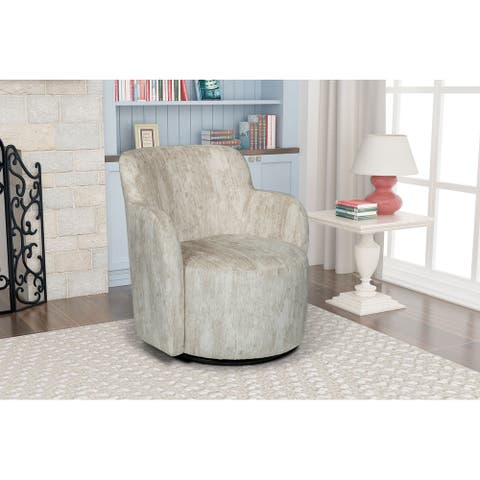 Ela Upholstered Swivel Barrel Accent Chair