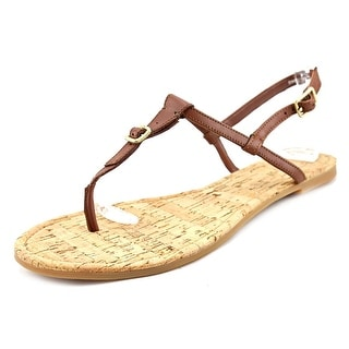 Cole Haan Britt Women Open-Toe Leather Brown Slingback Sandal