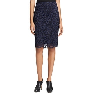 Vince Camuto Womens City Blues Pencil Skirt Lace Knee-Length - 2