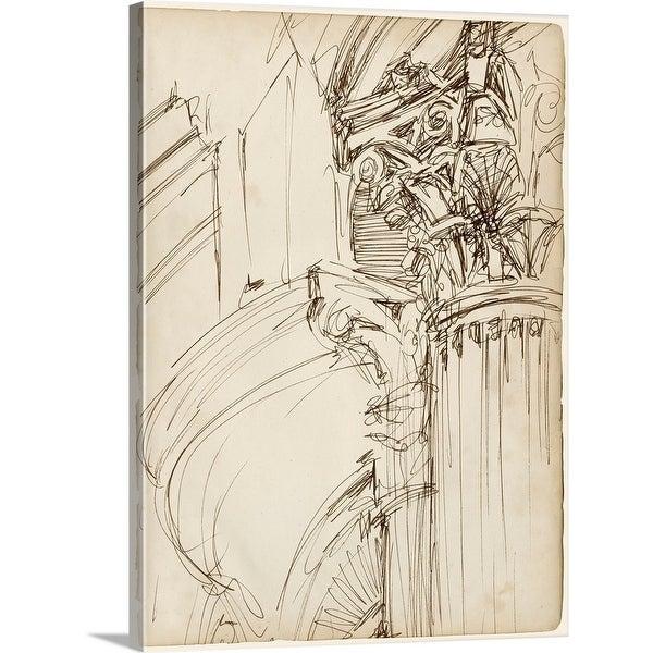 Ethan Harper Solid-Faced Canvas Print entitled Architects Sketchbook I
