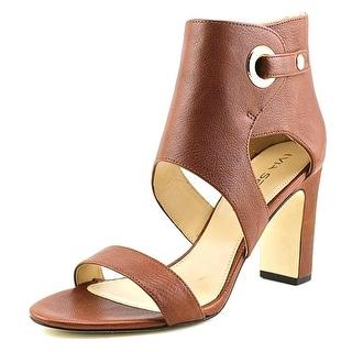 Via Spiga Adra Women Open Toe Leather Platform Heel