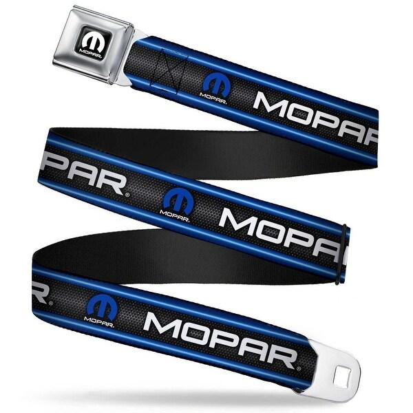 Mopar Logo Full Color Black White Mopar Text Logo Stripe Grill Black Grays Seatbelt Belt
