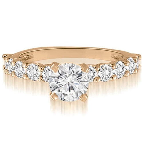 1.50 cttw. 14K Rose Gold Round Cut Diamond Engagement Ring