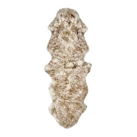 New Zealand Sheepskin Black Double Rug (2' x 6') - 2' x 6'