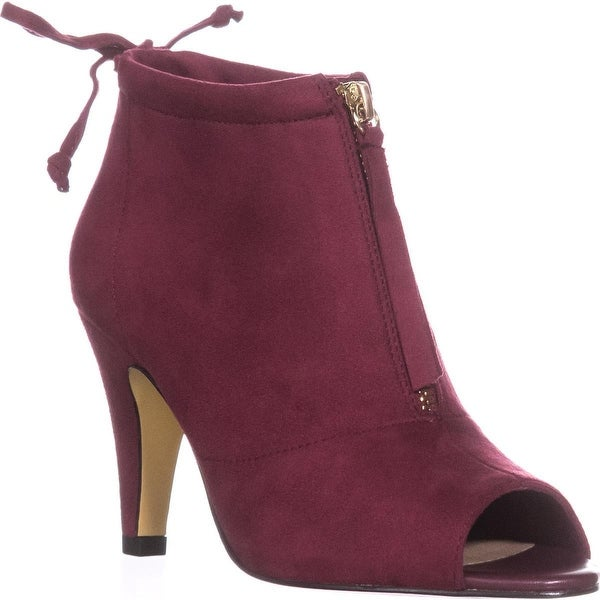 Bella Vita Nicky II Peep-Toe Ankle Boots, Burgundy - 6 us