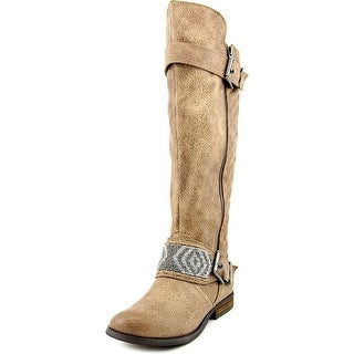 Not Rated Fashion Blvd Women  Round Toe Synthetic Tan Knee High Boot