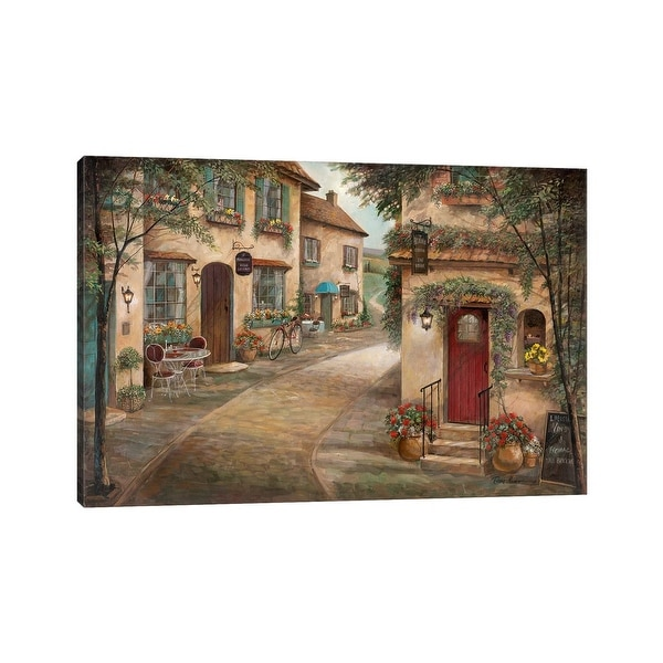 """iCanvas """"Quaint Cafe"""" by Ruane Manning Canvas Print. Opens flyout."""