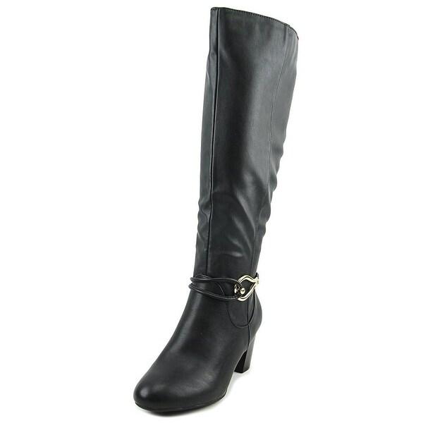 Karen Scott Gaffar Women Round Toe Synthetic Black Knee High Boot