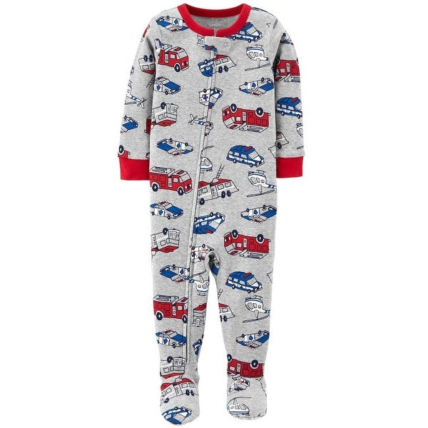faa43da2a8 Shop Carters Boys 12-24 Months Rescue Vehicles Sleeper - grey - 12 months -  Free Shipping On Orders Over  45 - Overstock - 26268250