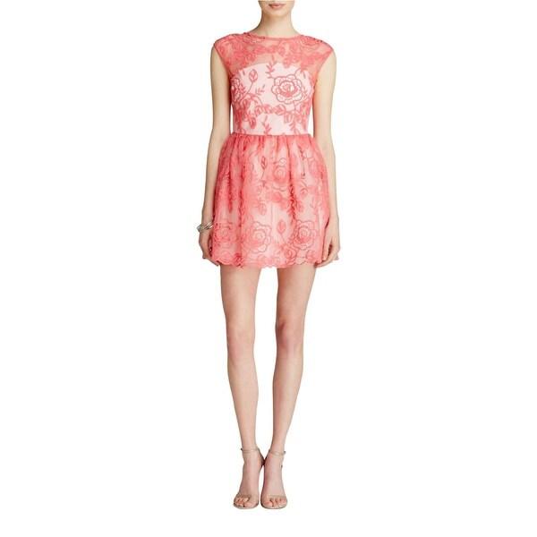 Aqua Womens Semi-Formal Dress Lace Floral