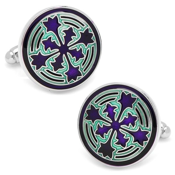 Teal Firenze Petal Cufflinks