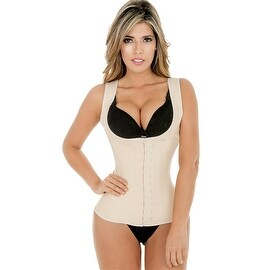 Fiorella Shapewear Classic Latex Vest Waist Cincher Trainer Corset Nude Fajas Chaleco Reductoras Colombianas