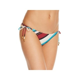 ViX Paula Hermanny Womens Striped Side Tie Swim Bottom Separates