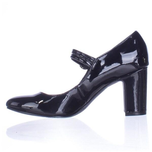 Alfani Womens HILLAREE Closed Toe Ankle Strap, Black, Size 6.5