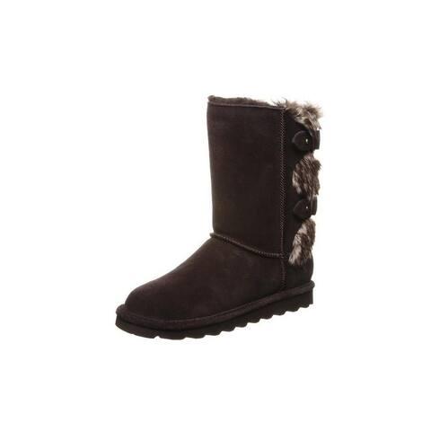 "Bearpaw Casual Boots Womens Eloise Faux Fur 8"" Shaft Neverwet"