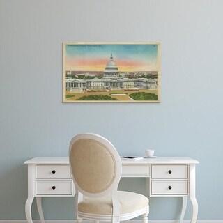 Easy Art Prints Unknown's 'Capitol Panoramic, Washington, D.C.' Premium Canvas Art