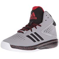 Adidas Boy's Cross 'Em Up 2016 Wide Basketball Shoe, Onix/Black/Light Scarlet, 6 W Us Big Kid