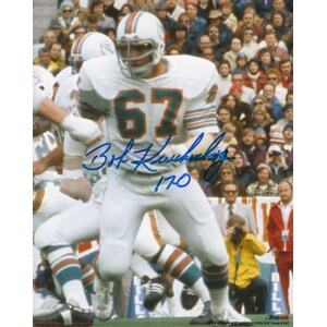 Bob Kuechenberg signed Miami Dolphins 8x10 Photo 170