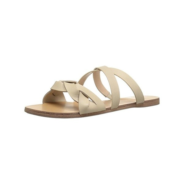G.H. Bass & Co. Womens Scarlett Slide Sandals Leather Open Toe