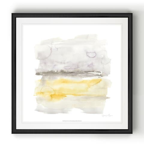 Winter Horizon Line II -Black Framed Print