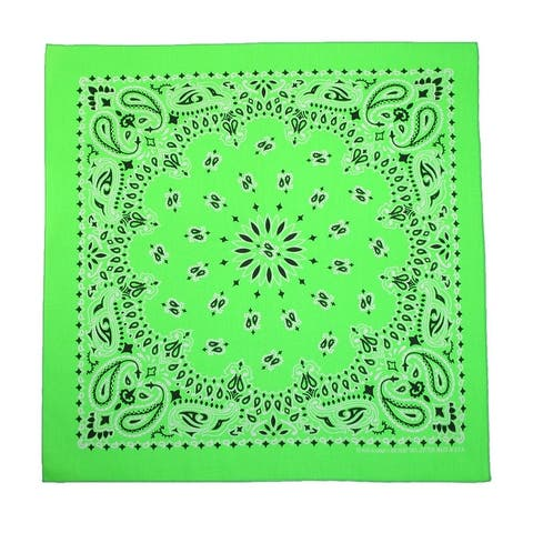 CTM® Cotton Neon Paisley Bandanas - one size