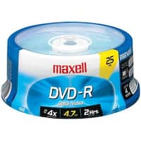 Maxell 635052/638010 4.7Gb 120-Minute Dvd-Rs (25-Ct Spindle)