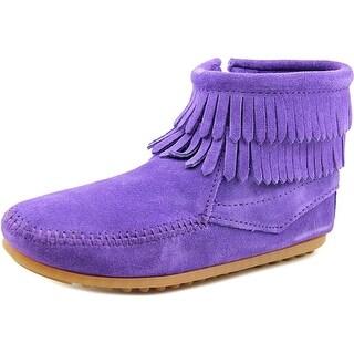 Minnetonka Ashton Women Round Toe Leather Ankle Boot