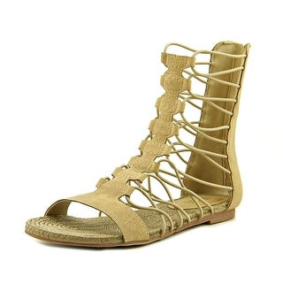 Mia Dominica Open Toe Leather Gladiator Sandal
